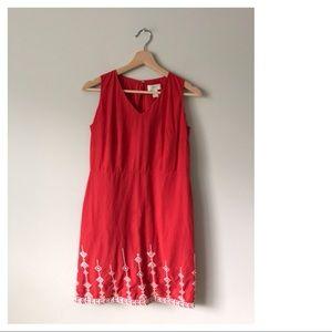 ANN TAYLOR LOFT EMBROIDERED DRESS SLEEVELESS 2